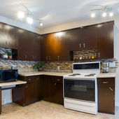 Interior design of modern kitchen — Photo