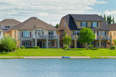 Canadian luxury houses in Manitoba — Stock Photo