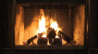 Fireplace — Video Stock