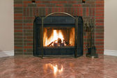 Fireplace in a new house — Foto Stock