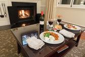 Romantique salle à manger — Photo