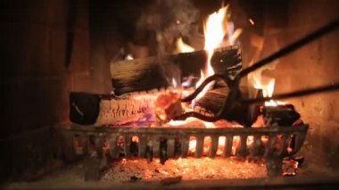 Fireplace interior — Stockvideo