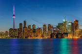 Toronto město v noci — Stock fotografie