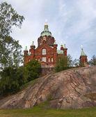 Uspensky cathedral in Helsinki, Finland. — Stock Photo