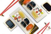 Dois conjuntos de sushi — Fotografia Stock