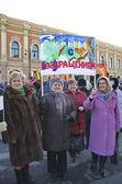 Russia - 18 marzo: incontro dedicato a crimea e Sebastopoli Federazione russa jojning — Foto Stock