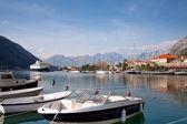 Kotor bay harbour view, Montenegro, Europe — Stock Photo