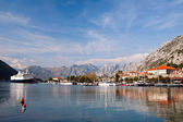 View of Kotor bay and Kotor city, Montenegro, Europe — Stock Photo