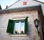 Window in old city, Kotor Montenegro Europe — Stock Photo