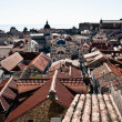 Dubrovnik Old Town roof tops from city wall — Stock Photo