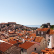 Stock Photo: Elevated view of town from city walls, Dubrovnik, Dalmatia, Croatia, Europe