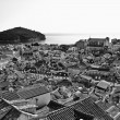 Stock Photo: Dubrovnik, Croatia, Europe, Black and White