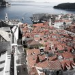 Dubrovnik cityscape from old town walls — Stock Photo
