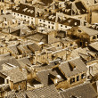 Rooftops of Dubrovnik old town, Sephia — Stock Photo