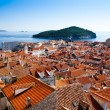 Dubrovnik old town over the roofs — Stock Photo
