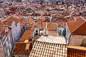 Old Town rooftops, Dubrovnik, Croatia — Stock Photo