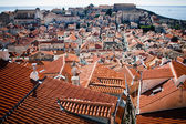 Looking across the rooftops of Dubrovnik, Croatia — Stock Photo