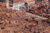Techos de dubrovnik, casco antiguo, croacia, europa, mar adriático — Foto de Stock