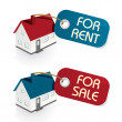 House for Sale and for rent Tags - Stock Vector