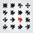 All Possible Shapes of Jigsaw Pieces — Vector de stock #15597767