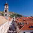 Tourists flock down main street in Dubrovnik - Foto de Stock
