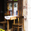Stock Photo: Krakow, Poland - July 13: table in cafe on street in Old Tow