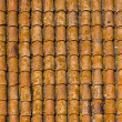 Brown shingles on a house - like texture — Stock Photo