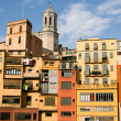 Stock Photo: Old houses at sunset, Girona, Spain