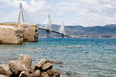 The bridge connecting the Peloponnese and mainland Greece — Stock Photo