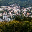 The town of Karlovy Vary with height, Czech Republic — Lizenzfreies Foto