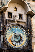 Clock with figures on the Town Hall in Prague, Czech Republic — Foto de Stock