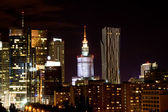 Night view of the city, Warsaw, Poland — Foto de Stock