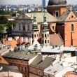View from a height of pile up, Krakow, Poland, Europe. — Stock Photo