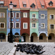 Funny buildings on Market Square in Poznan, Poland, Europe. — Stock Photo