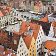 View of the city from a height, Wroclaw, Poland, Europe. — Stock Photo