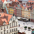 View of city from height, Wroclaw, Poland, Europe. — Stock Photo #31345375