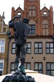 El monumento en la plaza de mercado en poznan, polonia, europa. — Foto de Stock