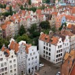 View of city from height, Gdansk, Poland, Europe. — Stock Photo #31358305