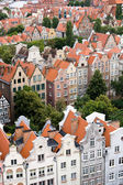 View of the city from a height, Gdansk, Poland, Europe. — Stock Photo