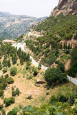The road in the mountains, Peloponnese, Greece. — Stock Photo
