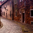 An ancient street in the Polish town of Tarnow — Stock Photo