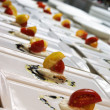 Stock Photo: Tomato and Mozerellwith Balsamic reduction
