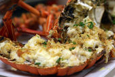 Stuffed Baked Lobster — Stock Photo