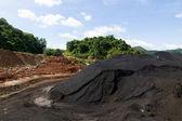 Coal Stock pile in mine — Stock Photo