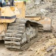 Bulldozer in construction site — Stock Photo