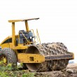 Stock Photo: Steamroller working