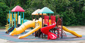Colourful playground equipment — Stock Photo