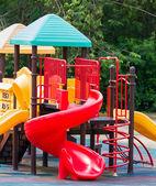 Colourful playground equipment — Stock Photo