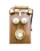 古色古香的木制电话 — 图库照片