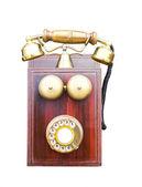 Teléfono antiguo de madera — Foto de Stock